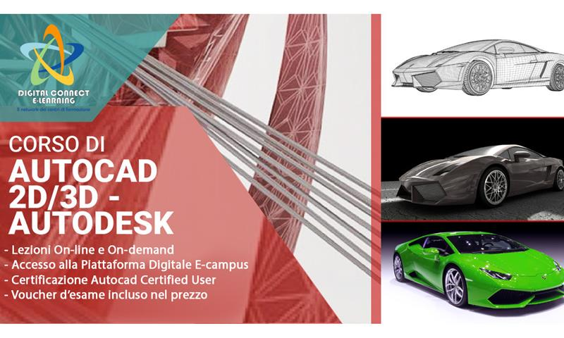 Corso di Autocad 2D/3D - Autodesk - Digital Connect Elearning